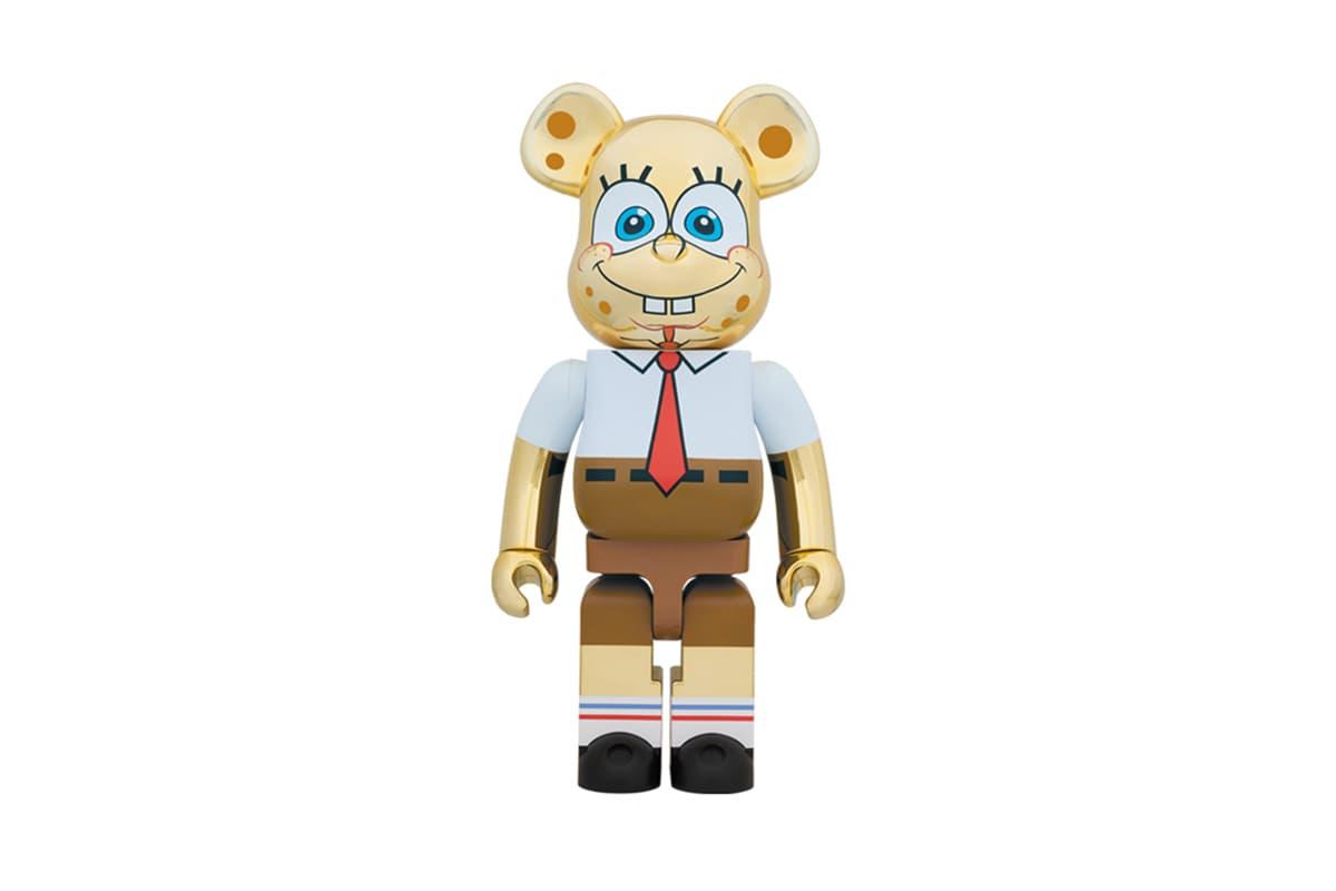 Medicom Toy Revamps 'Spongebob Squarepants' in Gold Chrome for Latest BE@RBRICK