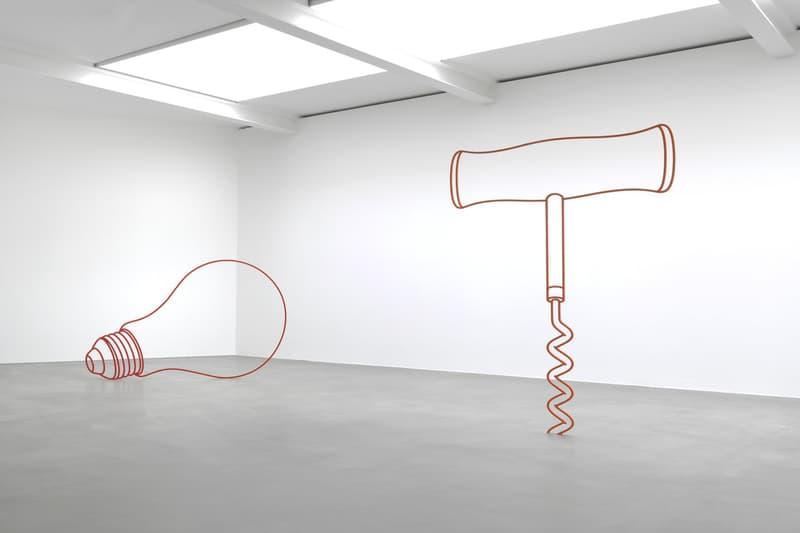 michael craig martin sculpture gagosian london exhibition sculptures artworks