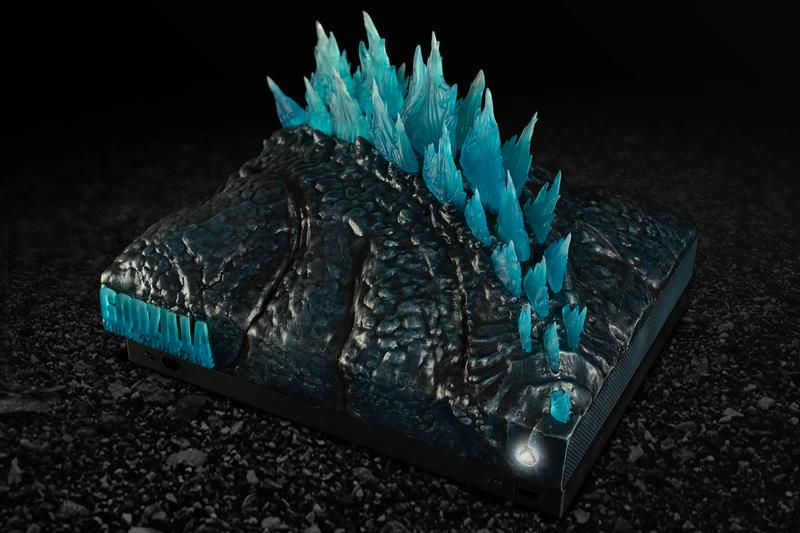 Microsoft is Raffling Out Four Custom Godzilla Inspired Xbox One X gaming console video games movie cinema king of the monsters collectible twitter live