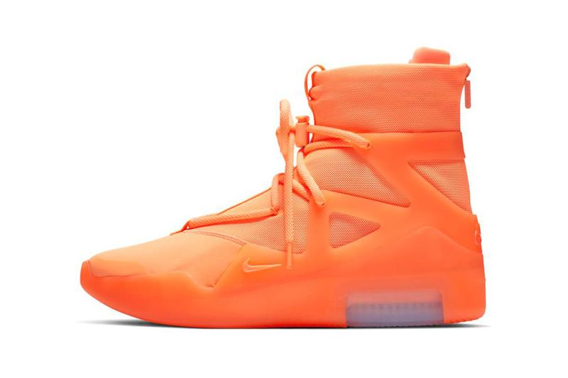 "Nike Air Fear of God 1 Pack Available on StockX jerry Lorenzo basketball sports orange green neon In ""Frosted Spruce and Orange Pulse"