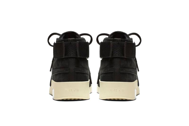 """Nike Air Fear of God Raid """"Black/Black Fossil"""" release price sneaker where to buy 2019 collaboration raffle"""