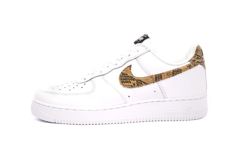 huge selection of 53394 c33ff Nike Air Force 1 Low Premium Ivory Snake Release Info AO1635-100