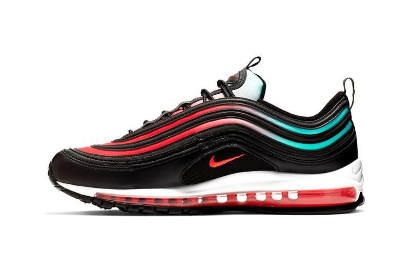 56aceacb56 Nike Air Max 97 Black Ember Glow White Blue Fury Sneaker Release Drop Date  Information Footwear