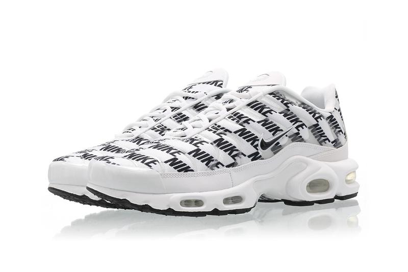 Nike Air Max Plus Black White Release miniature logo branding CJ5331-100