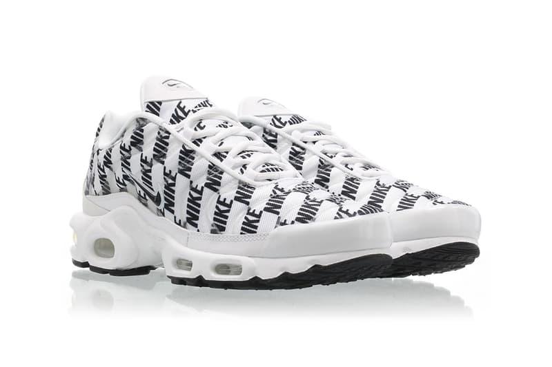 deac1dae6663d Nike Air Max Plus Black White Release miniature logo branding CJ5331-100