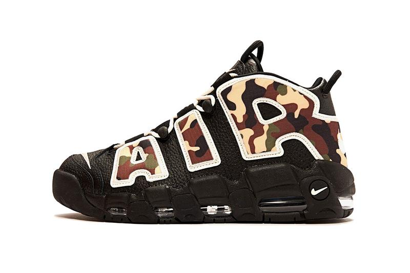 """Nike Air More Uptempo '96 QS """"Sail-LT""""/""""British Tan/""""Asparagus""""/Black camouflage print pattern release date info buy may 2019 CJ6122-001"""