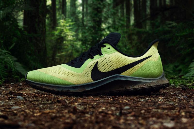 Nike Air Zoom Pegasus 36 Trail Release Green Black Info