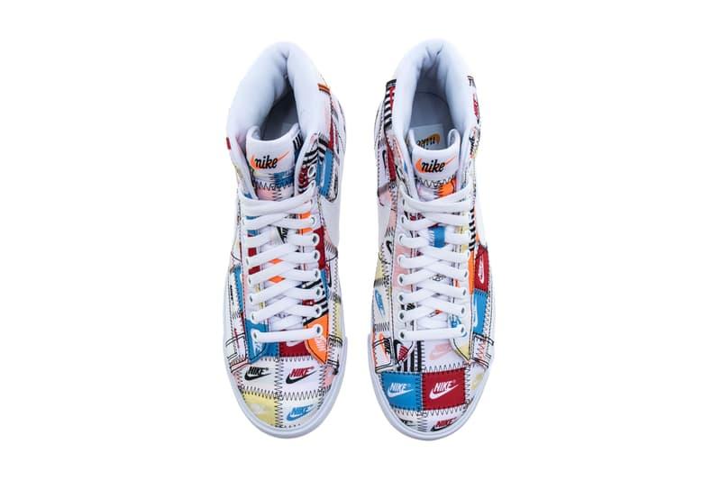"Nike Blazer Low & Mid Premium Multicolor Pack Release Info ""BLACK/MULTI COLOR"" ""White/MULTI COLOR"" patchwork ci9887-100 ci9888-00 drop date info price"