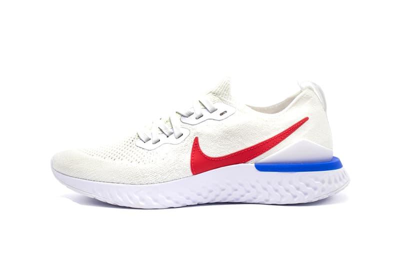 72a3b29ae2e Nike Epic React Flyknit 2 Cortez Release Info CJ8295-100 WHITE VARSITY RED  rOYAL