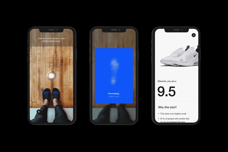 nike fit app digital foot shoe size measurement scan launch