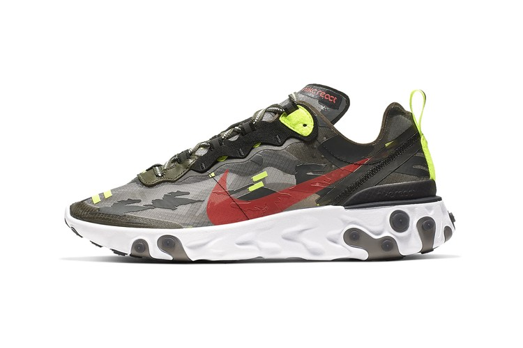 reputable site c130e b0449 Nike React Element 87 Gets a Camo Remix With
