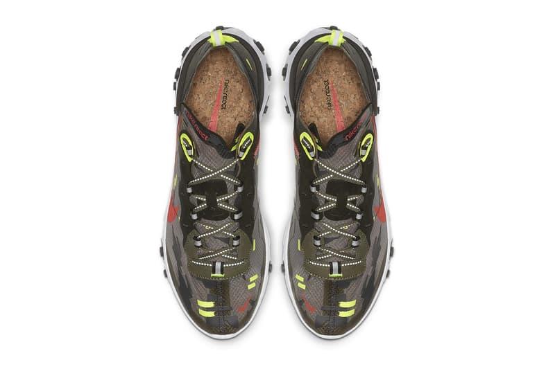 "Nike React Element 87 in ""Volt/Bright Crimson"""