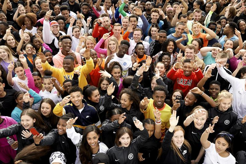 Nike Youth Sports Partnerships London Info Information Details Swoosh multi-year engagement Games 140,000 young people 33 boroughs 30 Sports Raheem Sterling Jadon Sancho Alex Scott Dina Asher Smith Mo Farah