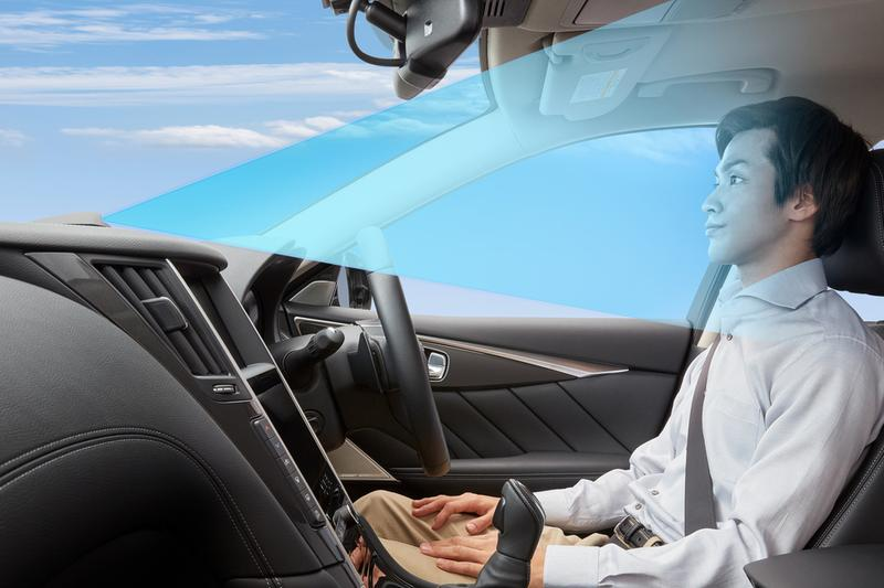 Nissan Skyline Self Driving Autonomous Cars Japan 2019 Debut ProPilot 2.0 Japanese Law Dash Camera Speed Lane Change Sonar AMV Monitor Radar