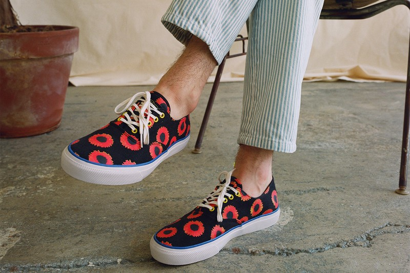 """NOAH NYC Drops Exclusive """"Flora Print"""" Sperry Top-Sider"""