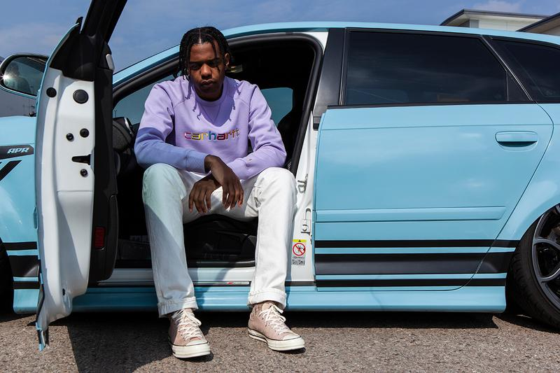 Oi Polloi Carhartt WIP Work In Progress Collaboration Capsule Collection Sweaters Spring Summer 2019 SS19 White Soft Lavender Loden Soft Aloe Volkswagen GTI