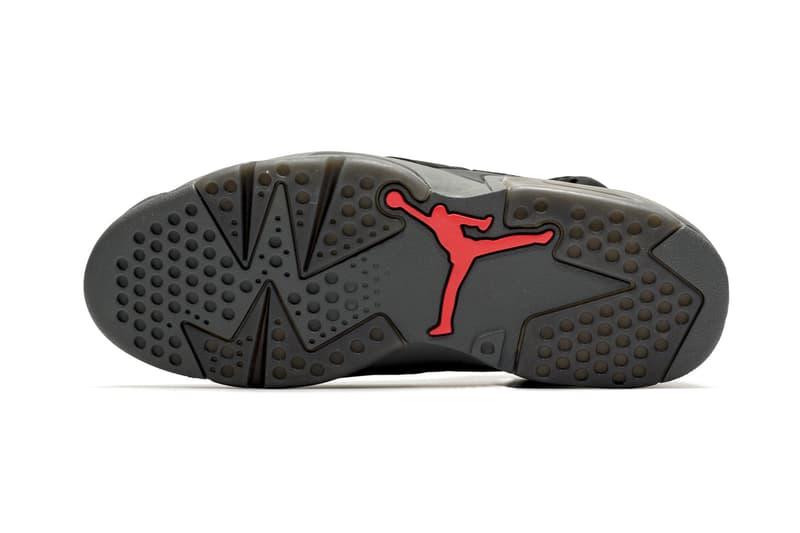 Paris Saint-Germain x Air Jordan 6 Closer Look psg footwear collaborations