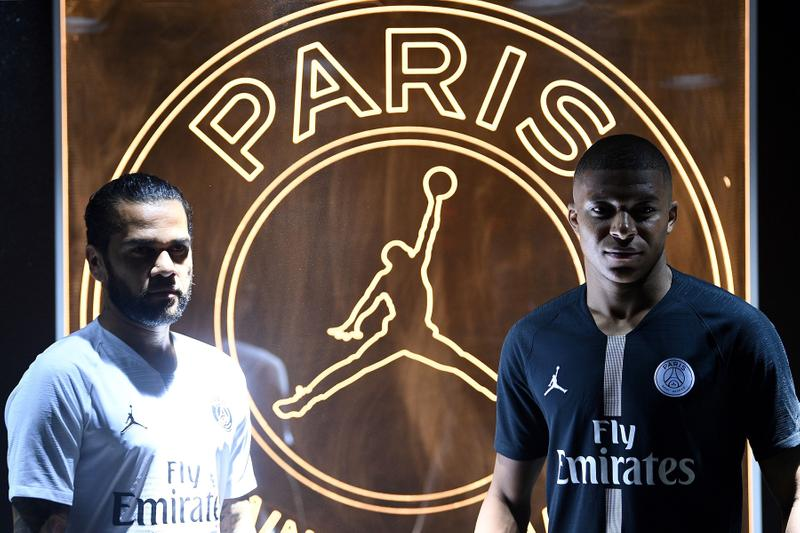 Paris Saint-Germain to Wear Jordan Brand Away Kits black Infrared football soccer nike kylian mbappe jumpman black Infrared