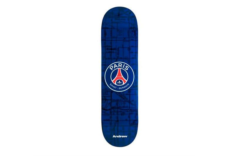 Paris Saint-Germain x Andrew Skate Decks psg limited edition skate decks