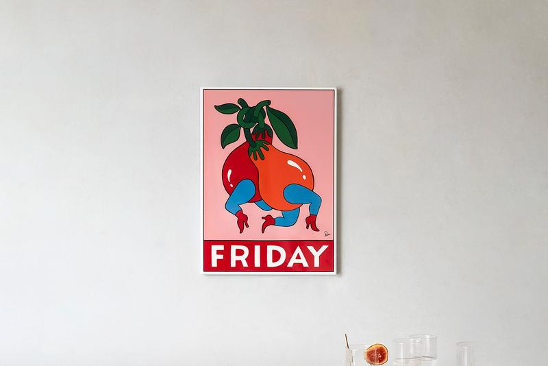 """Parra CASE STUDYO """"Friday"""" Artwork 1 of 100 Indoor Outdoor Numbers Signed Painting metal enamel screen print Amsterdam The Netherlands Rockwell Clothing"""
