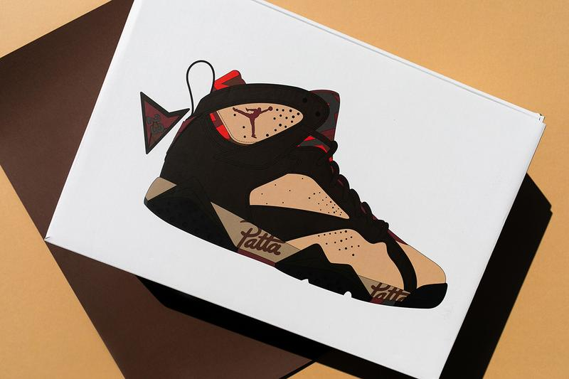 Patta x Air Jordan 7 Collab Closer Look Air Nike First Cop Purchase Buy Sneakers Trainers Kicks Footwear