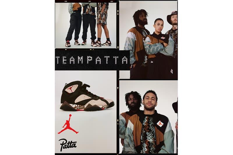 Patta Jordan Brand 7 XII Apparel Sneakers Footwear Collection Collaboration Release Details Drop Date buy cop purchase neymar jr psg brazil cosima