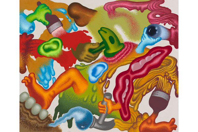 peter saul erik parker nanzuka exhibition artworks paintings collaborations tokyo japan