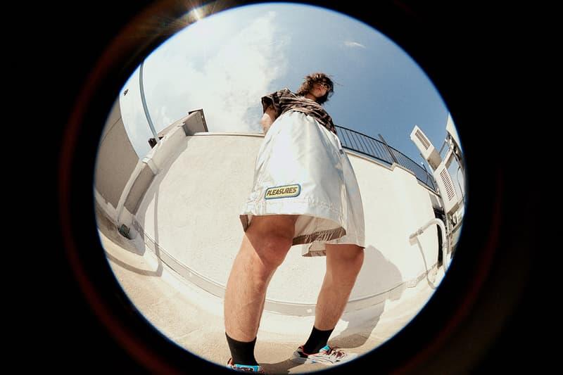 PLEASURES Summer 2019 Collection Alex James Vibrant Panic Los Angeles streetwear fish-eye lens lookbook