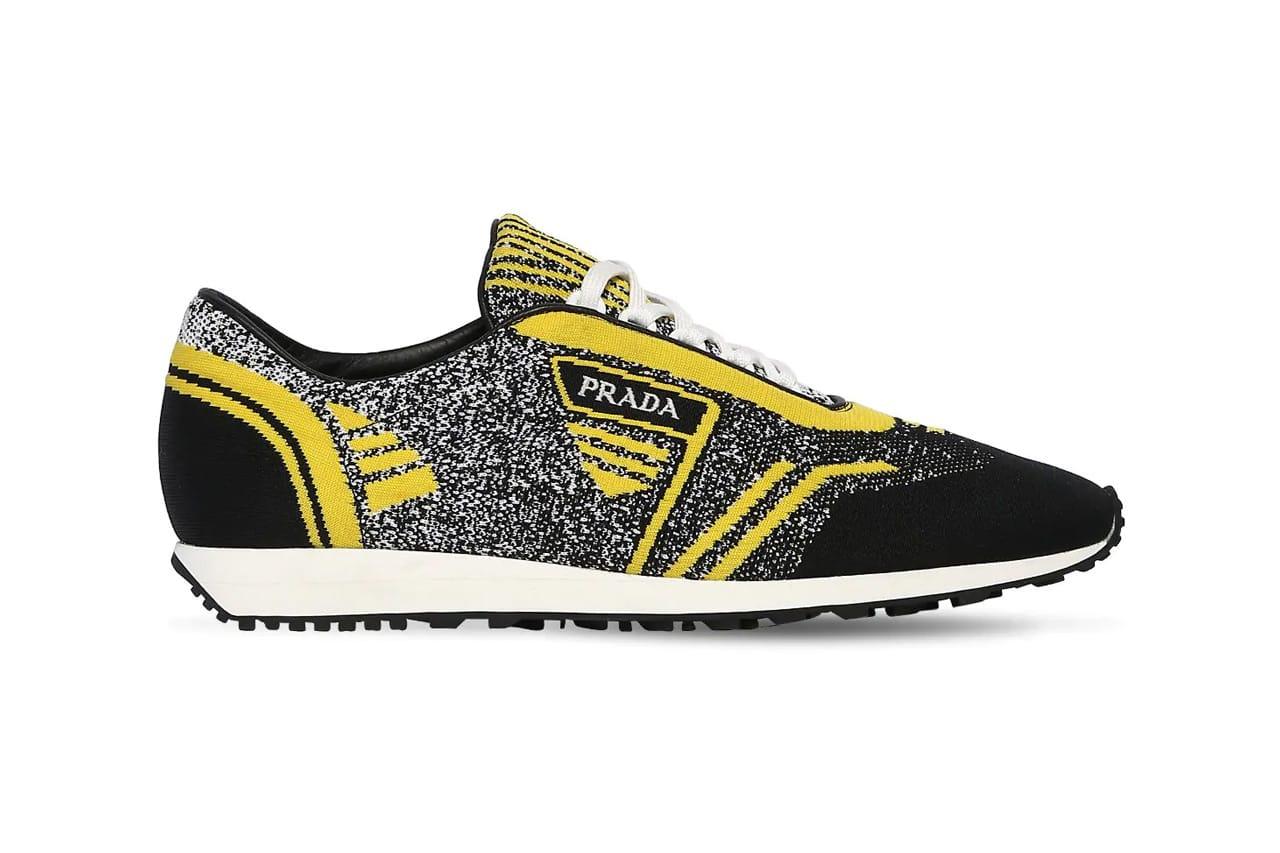 Prada Knit Running Sneakers Black