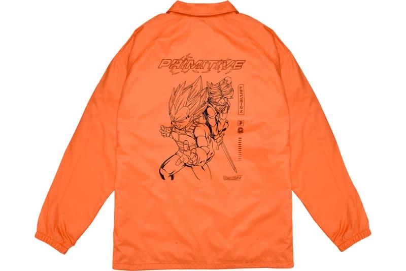 Primitive Skateboarding x Dragon Ball Z Collaboration 4 Final Collection goku coach coaches jackt tee t shirt skateboard deck