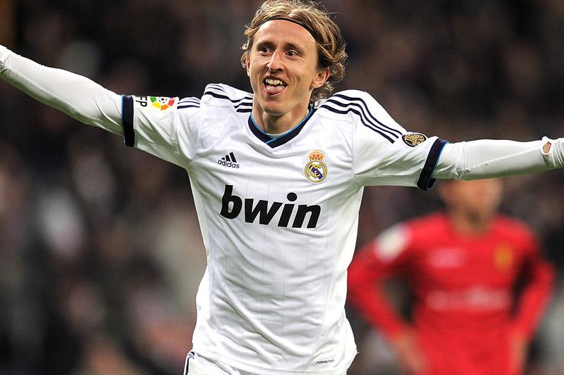 adidas football real madrid la liga spain barcelona soccer partnership sponsorship kit manufacturer white home jersey away announcement florentino perez luka modric