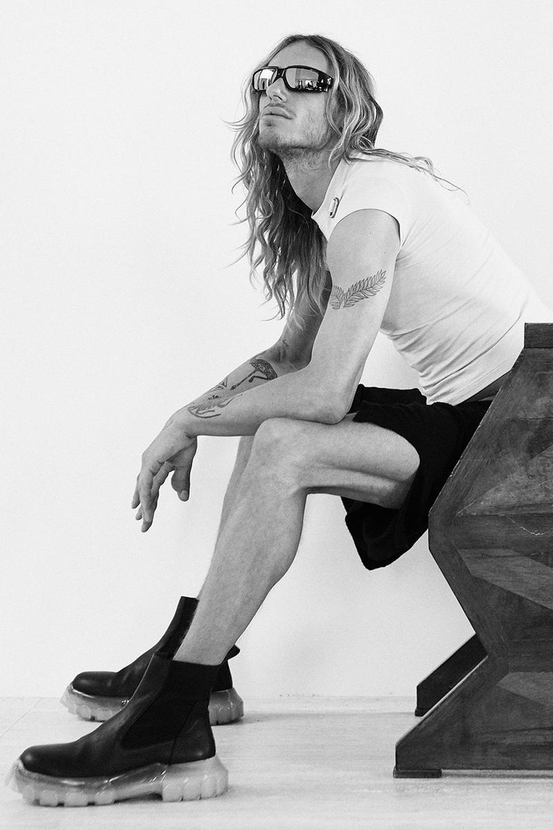 rick owens eyewear collection campaign spring summer 2019 the shield the rick frame sunglasses