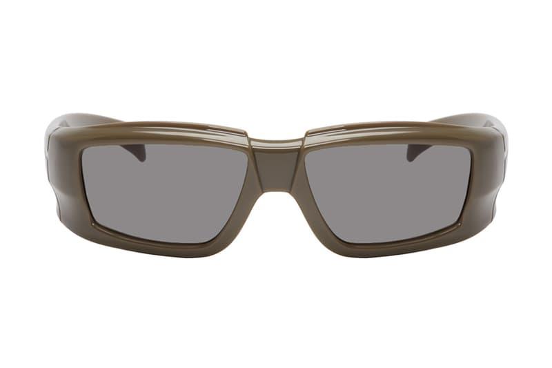 Rick Owens Larry Rick Sunglasses 2019 Capsule Eyewear Memory Flex™ Nylon Sculpture bulky shades transparent grey black lenses
