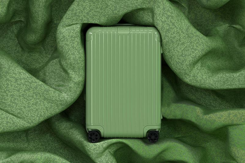 RIMOWA Essential Check In L Cabin Trunk Plus sage green coral pink saffron yellow slate grey release information pricing details buy cop purchase order Arnault Supreme Daniel Arsham Off-White