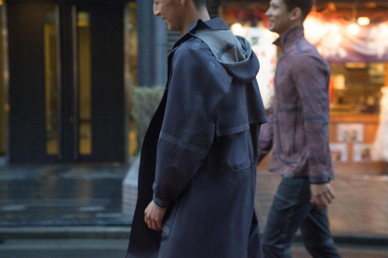 Robert Geller x Lululemon Take the Moment Collection Info outerwear jackets tokyo rain waterproof coats athletic apparel sportswear