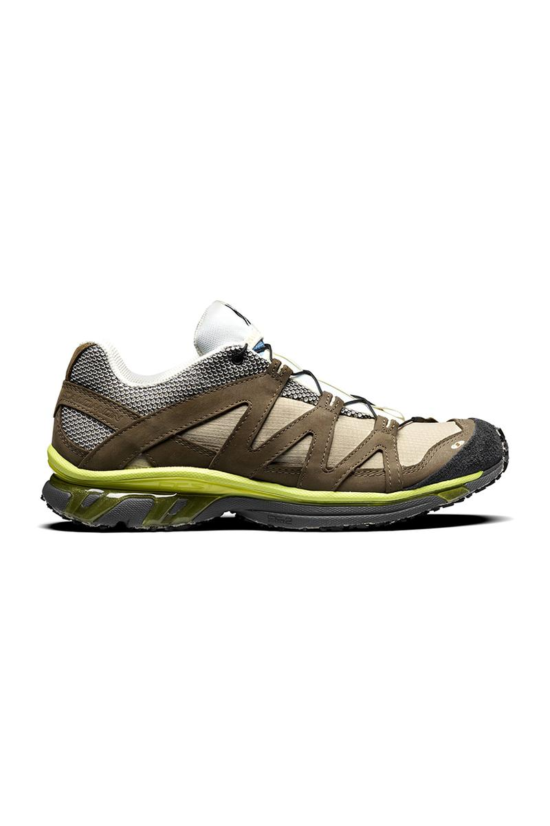 The Broken Arm x Salomon Trail Pro & Slide rx 3.0 tactical laces slip on hiking french retailer paris lime green yellow mesh ortholite