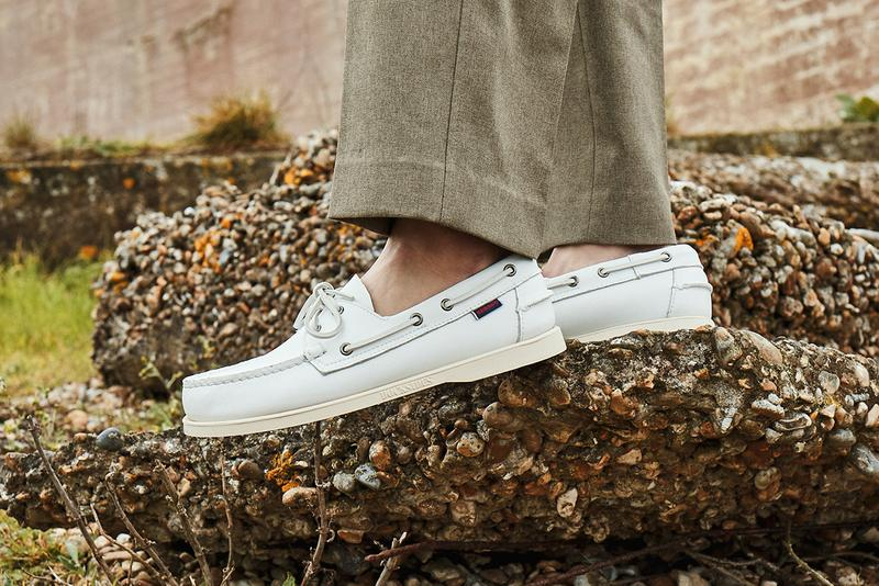 """Sebago Spring Summer 2019 SS19 """"Escape & Explore"""" Collection Campaign Lookbook  Dockside Cityside Campside Loafers Dockers Deck Boat Shoes Leather WW1 Sound Mirrors Romney Marshes"""