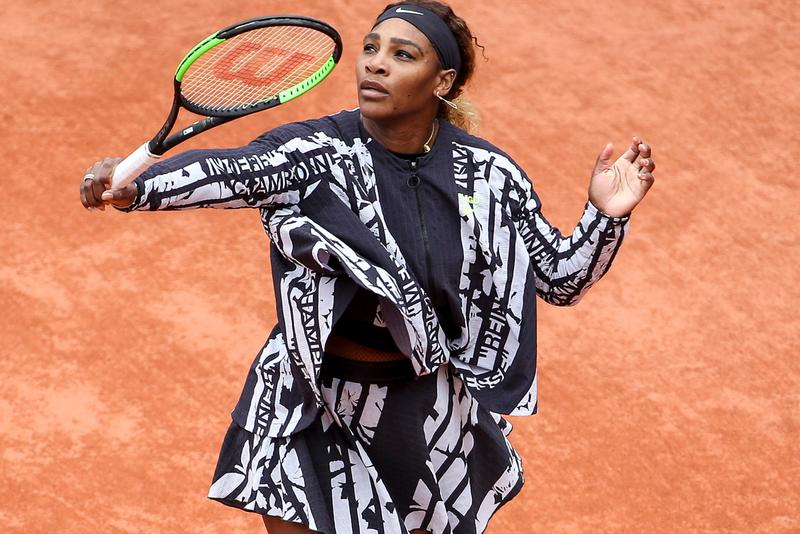 Serena Williams Wears Virgil Abloh Nike Apparel Wins First Round French Open Nike