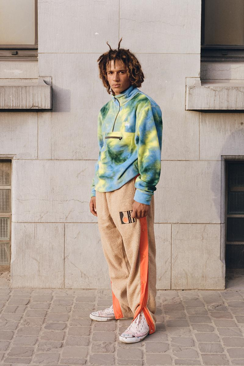 "Slam Jam Socialism ""Boolin in Brussels"" Spring Summer 2019 Editorial Lookbook Stussy Moncler The North Face Nike Shox FRGMT Asics Polo Ralph Lauren Commes des Garcons Shirt"