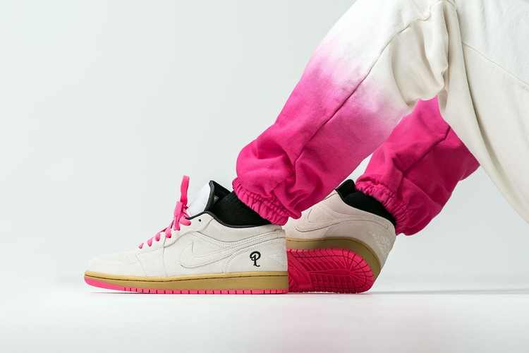 4202e6c7998168 Sneaker Politics Remixes Air Jordan 1 Low With Splashes of Pink