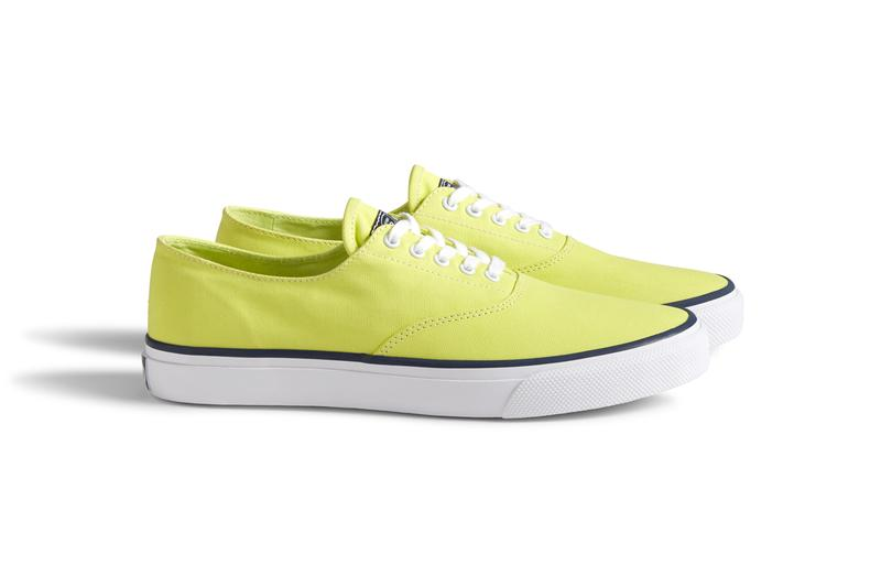 sperry cloud collection noah brendon babenzien summer neon boat shoe canvas sneaker