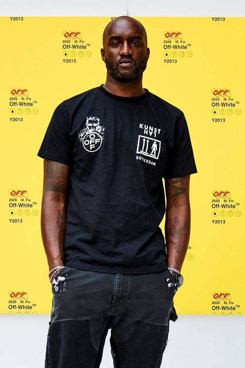 Virgil Abloh Off-White Louis Vuitton Creative Director Streetsnaps Seoul South Korea Illustration Event Kunsthal Rotterdam T-Shirt Collaboration Outfit Photography