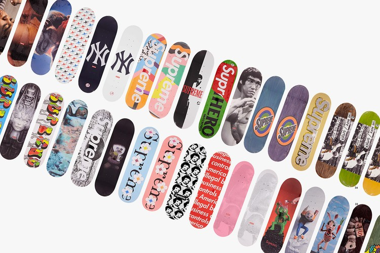 c63769a901ad 126-Piece Supreme Skate Deck Collection Sells for £100,000 GBP (UPDATE)