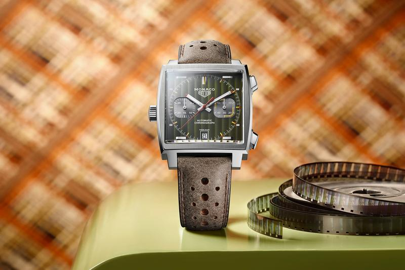 TAG Heuer Grand Prix Monaco 50th Anniversary Green Stainless Steel Square body