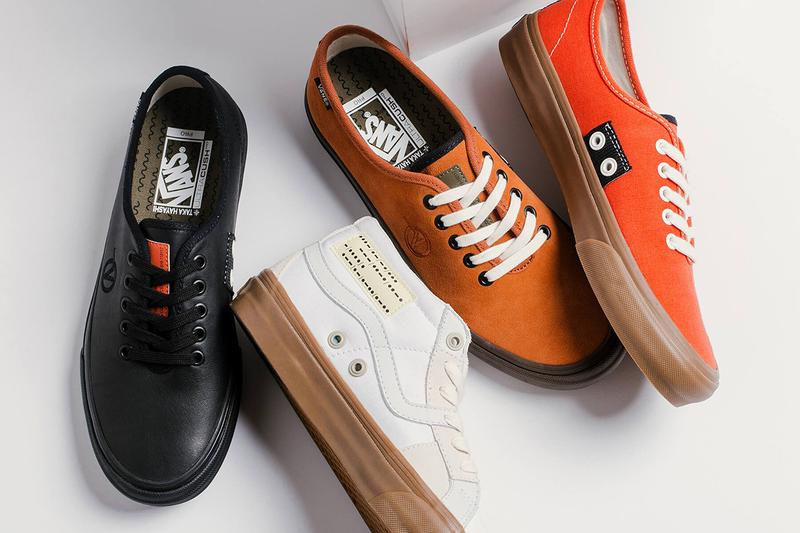 Taka Hayashi x Vans Vault Footwear Collection Authentic One 138 Mid LX Native American Influence spicy orange leather brown black white Sneaker Release Information Drop Date Cop Now