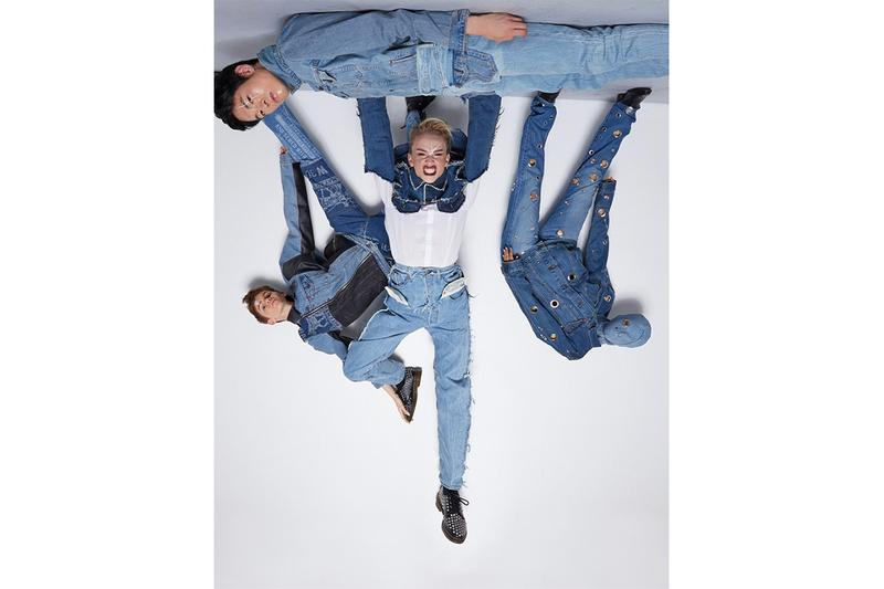 Takarawong Levi's Collection Lookbook denim jeans patchwork teen spirits rock & roll abstract clothing fashion collaboration info release drop date dark wash and printed denim into jacket and pants