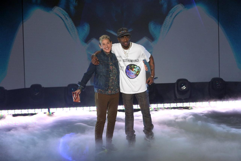 The Ellen DeGeneres Show Migos Travis Scott Kanye West Rapper Childish Gambino Ellen interviews feature pharrell