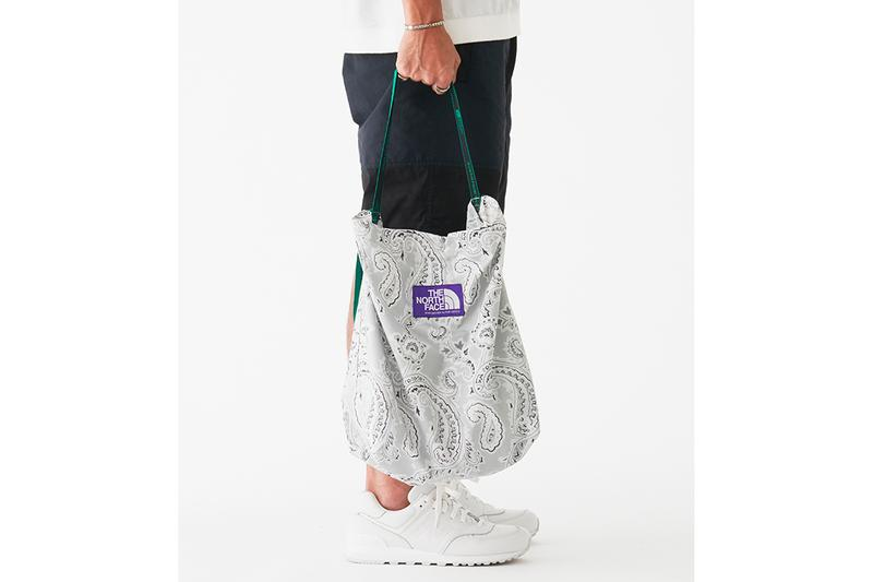 The North Face Purple Label Paisley Print Bag Collection Lightweight Waist Bag Tape Tote Shoulder Bag Spring Summer 2019 SS19 Nanamica Japan Release