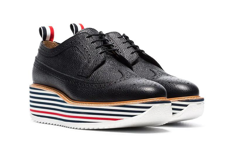 thom brown black chunky sole sneakers red white blue stripes spring summer 2019