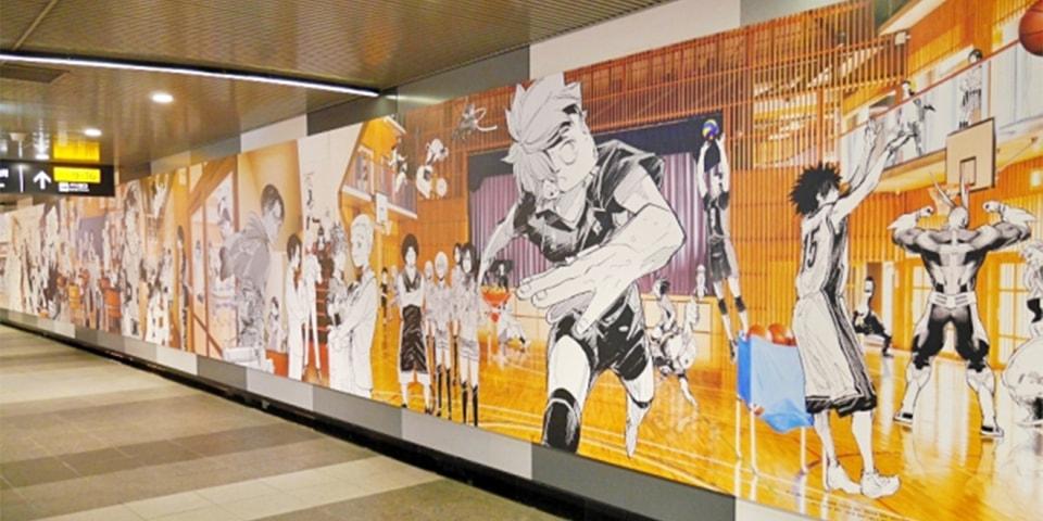 Tokyo Shibuya Station 100 Foot Anime Mural Info Hypebeast